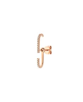 DIAMOND Ear Jacket|Single 14K Roségold