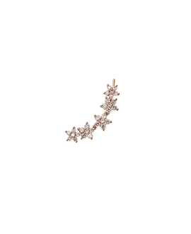 DIAMOND Ear Climber|Single 14K Roségold