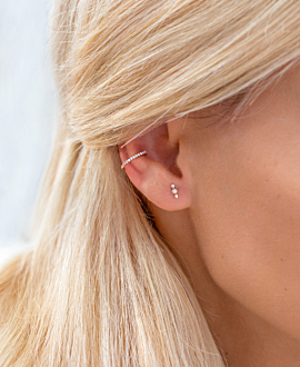 Ear Cuff Single 14K Roségold