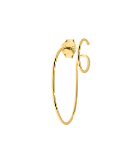 DOUBLE HOOP  Single Gold