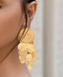 LOUNA EARRINGS GOLD