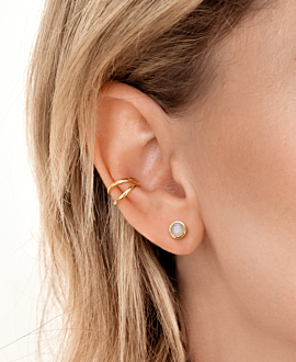 LYCIA  EAR STUDS GOLD