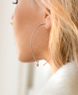 MOONSTONE EARRINGS ROSE