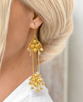 LAVA  EARRINGS GOLD