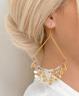 GRAND OCEAN  EARRINGS GOLD