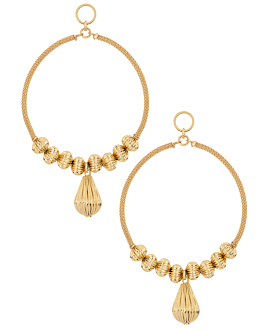 GOLDEN LUSTERS  EARRINGS GOLD