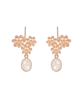 FLORAISON  EARRINGS ROSE