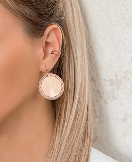RADIANT COIN  EARRING ROSE