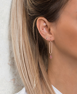 PINK DRIP  EARRINGS ROSE