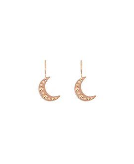 BEADED MOON|Ohrringe Rosé