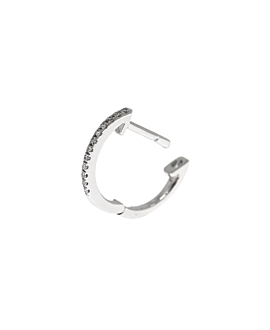 DIAMOND HOOP 14K WHITE GOLD