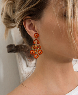 ORANGE BLAZE  EARRINGS