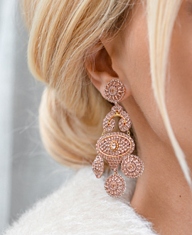 PRETTY IN BLUSH EARRINGS GOLD