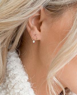 DIAMOND EAR STUDS 18K ROSE GOLD