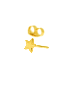 Ohrstecker Single 14K Gold