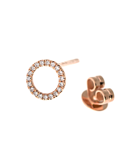 DIAMOND EAR STUD  14K ROSE GOLD