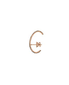 DIAMOND EAR STUD  SINGLE 14K ROSEGOLD