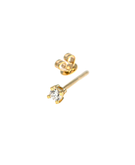 DIAMOND EAR STUD 14K GOLD