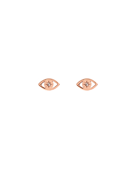 TOPAZ EYE|Ohrstecker Rosé