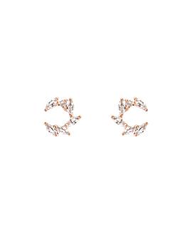 MARQUISE CIRCLE|Ohrstecker Rosé