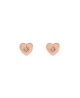 SPARKLING HEART|Ohrstecker Rosé