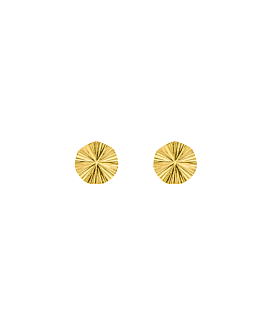 GINKO GLOW EAR STUD GOLD