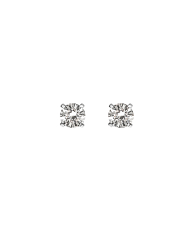 DIAMOND EAR STUDS  14K WHITE GOLD