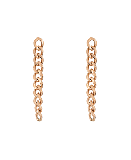 CURB CHAIN EARRINGS ROSE