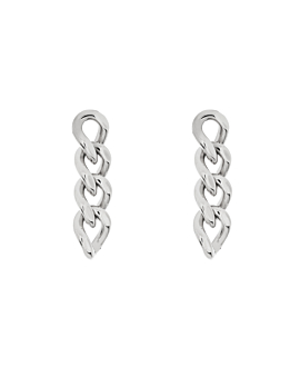 CURB CHAIN EARRINGS SILVER