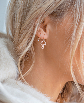 CROSS  EARRINGS ROSE