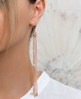 SHEEN PEARL  EARRINGS ROSE