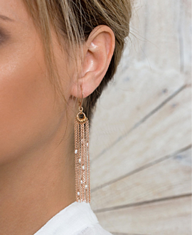 ESSENTIAL PEARL EARRINGS ROSE