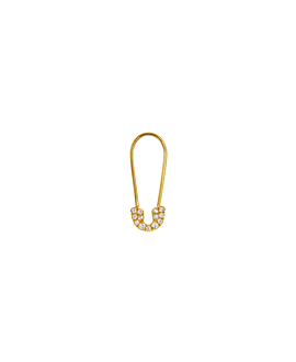PIN Ohrring|Single Gold