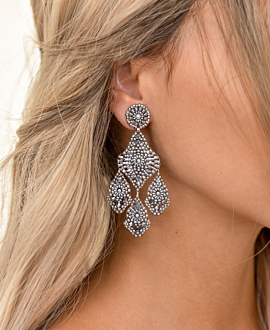 SILVER SILHOUETTE  EARRINGS