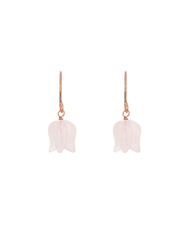LOTUS EARRINGS ROSE