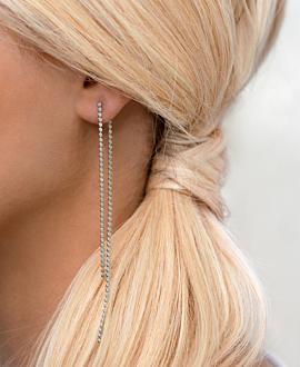 Ear Jackets Silber