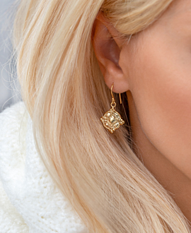 INES  EARRINGS VERMEIL