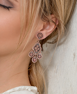 DUSTY ROSE  EARRINGS