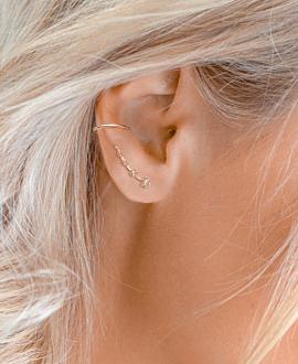 TOPAZ SPARK  Ear Climber Rosé