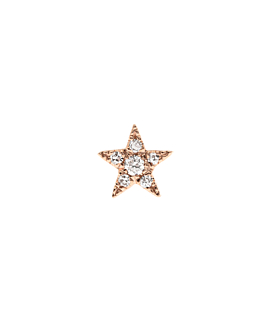 DIAMOND Ohrstecker|Single 14K Rosegold