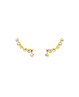 DIAMOND EAR STUDS  14K GOLD