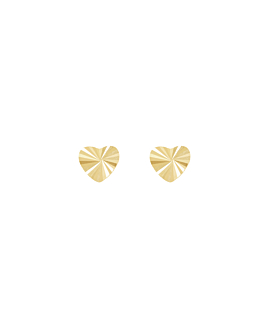 RADIANT HEART|Stecker 14K Gold