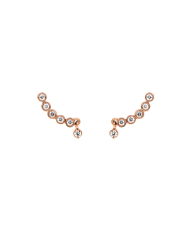 DIAMOND WAR STUDS  14K ROSE GOLD