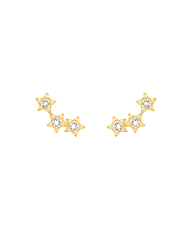 STARLIGHT  EAR STUDS GOLD