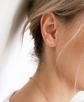 Ear Climber Single Rosé