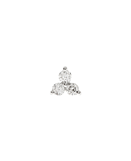 DIAMOND EAR STUD SINGLE 14K WHITE GOLD