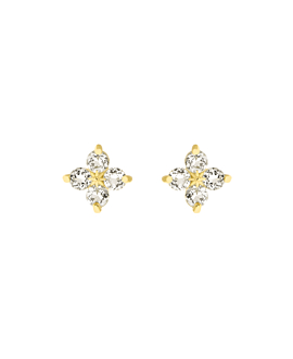 TOPAZ POPPY  EAR STUDS GOLD