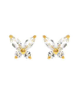 GEMMY BUTTERFLY Ohrstecker Gold