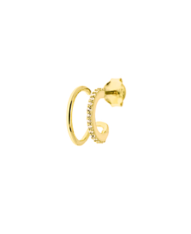TOPAZ BAR STUD  SINGLE GOLD