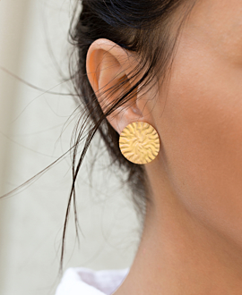 ELODIE EAR STUDS GOLD